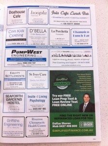 Simplified Finance Broking ad in the Police Union magazine
