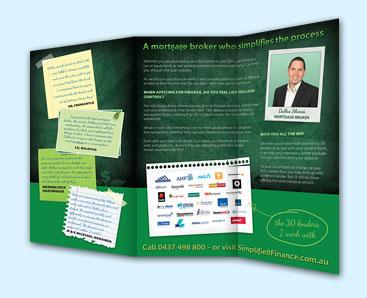 Simplified Finance Brochure Mockup